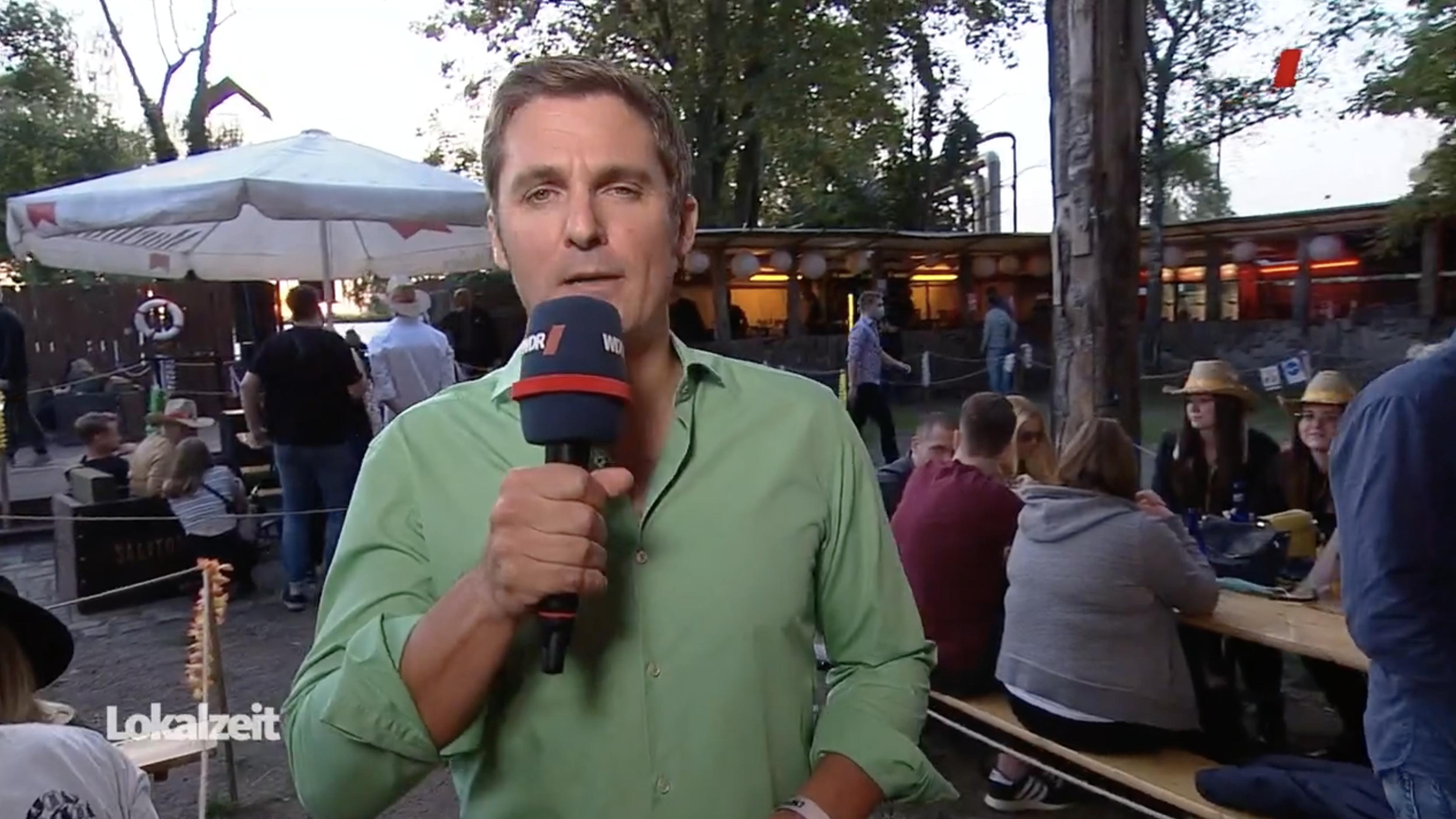 """WDR-Beitrag: Reporter Stefan Göke berichtet vom """"Clubs United"""" aus Essen"""